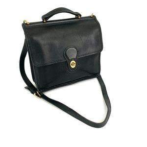 Coach 9927 Vintage Willis Crossbody Bag Black